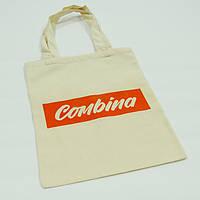 Эко-сумка из двунитки 33х0х42 см (ручки 60 см)