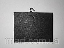 Ценник подвесной 5х7 см s-образным крючком меловой. 100 штук. Грифельная табличка. Для мела и мелового маркера