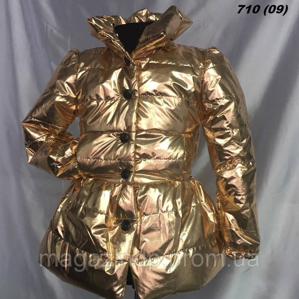 Пальто на девочку на синтепоне нарядное 710 (09) Код:783159645