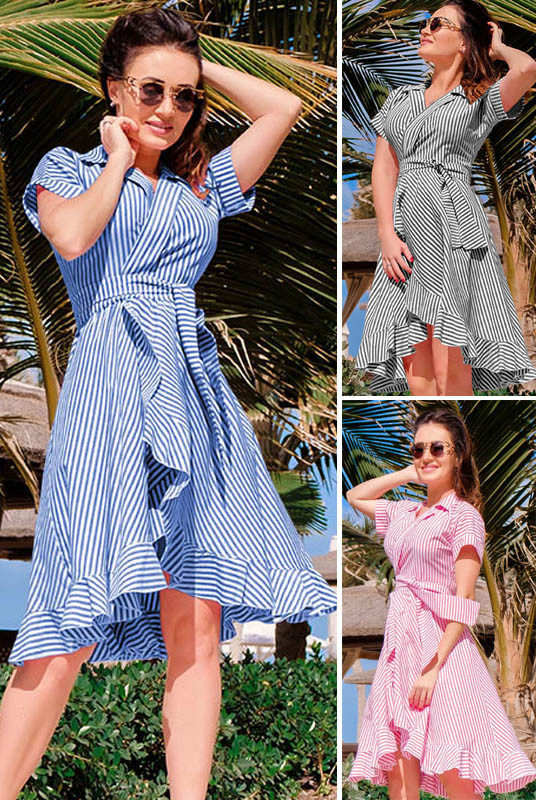 Легкое летнее платье Бланка в полоску