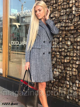 Пальто женское кашемир с шерстью 1223 фан Код:768039478