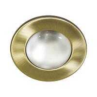 Встраиваемый точечный светильник Feron 1714 (матовое золото) R63