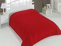Махровая простынь-покрывало красного цвета Турция, фото 1