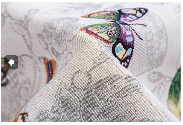 Скатерть тканевая гобеленовая пасхальная круглая Ø140 см на круглый стол, фото 2