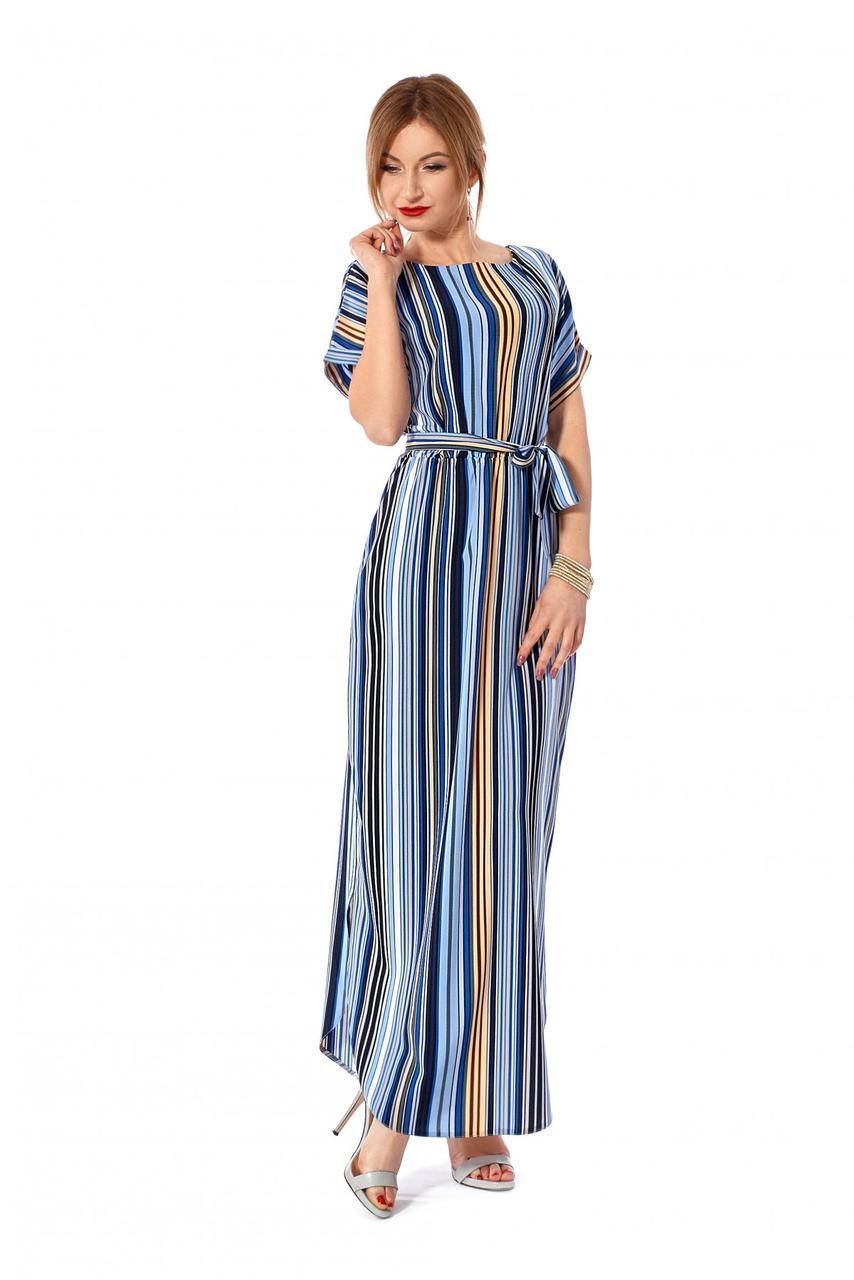 01d6be4198c Легкое длинное платье-рубашка в полоску-2 цвета 44