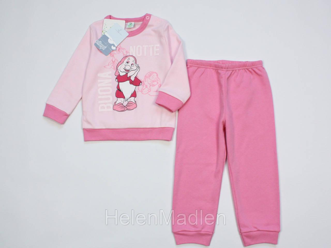 Пижама Ellepi Disney Baby хлопковая для девочки 80 см розовая