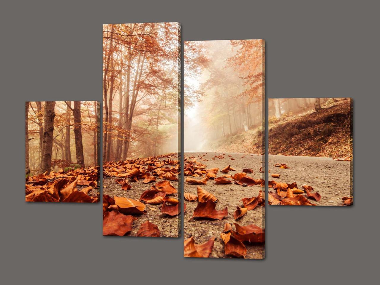 Модульная картина Золотая осень 120*93 см Код: 304.4K.120