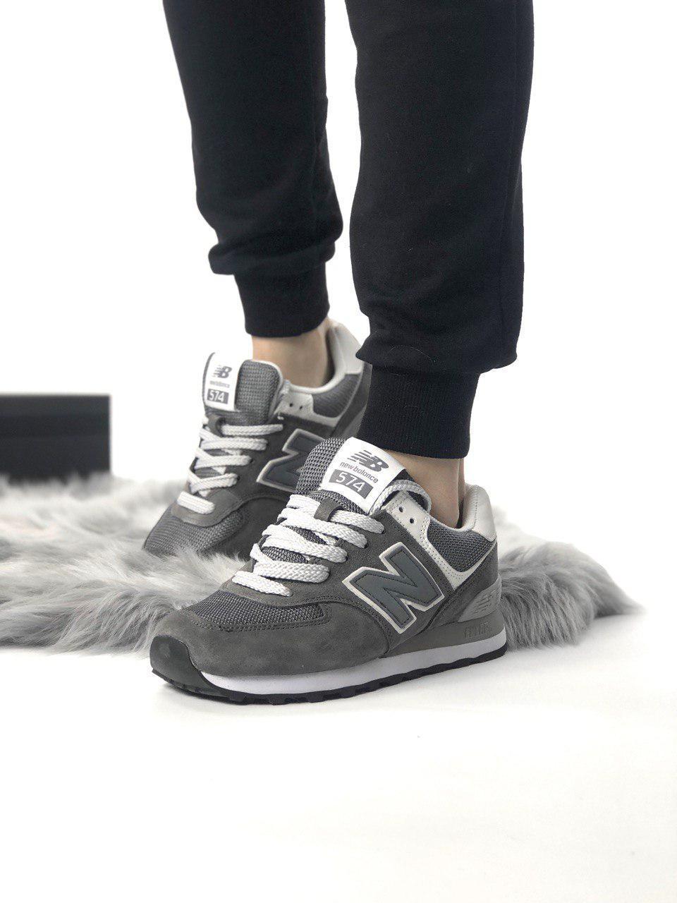 Женские кроссовки New Balance 574 из натуральной замши
