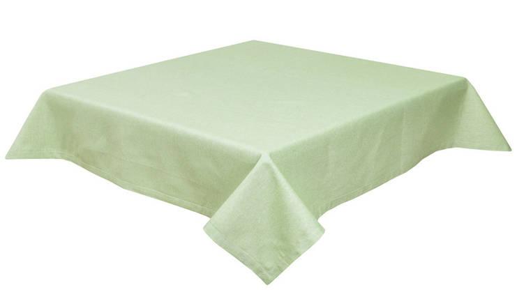 Скатерть тканевая пасхальная зеленая 130 x 140 см, фото 2