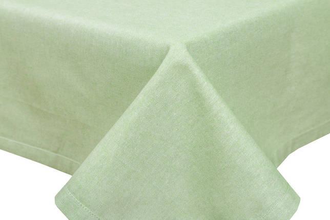 Скатерть тканевая пасхальная полиэстер зеленая 130 x 220 см, фото 2