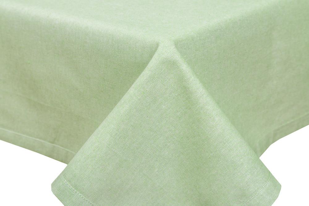 Скатерть тканевая пасхальная полиэстер зеленая 130 x 260 см