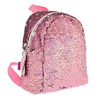 """Рюкзак молодежный  с паетками GS-02 """"Pink"""" YES (557651)"""