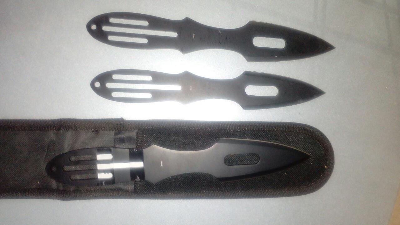 Ножи метательные набор 3 штуки с отверстиями