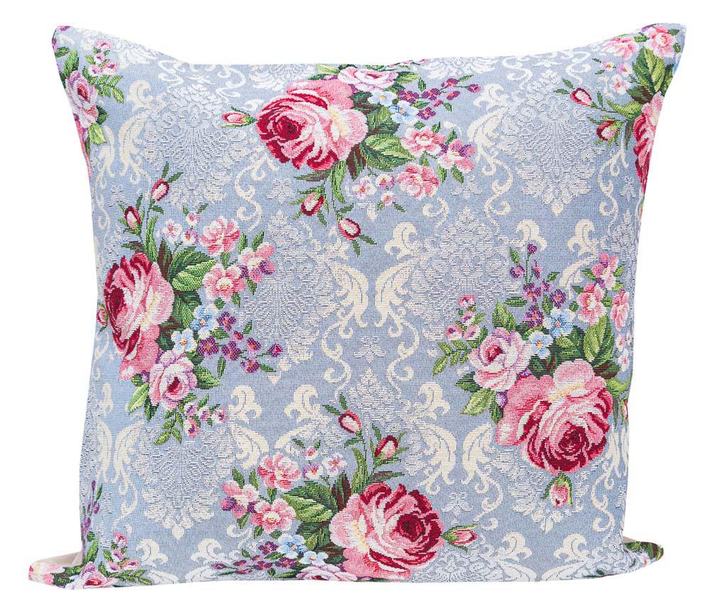 Наволочка декоративная гобеленовая односторонняя Цветы классические 45 х 45 см