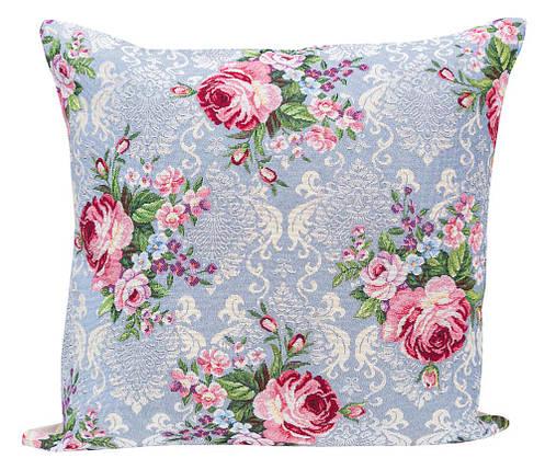 Наволочка декоративная гобеленовая односторонняя Цветы классические 45 х 45 см, фото 2