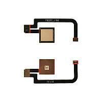 Шлейф для Xiaomi Mi Max 2 с датчиком отпечатка, цвет золотой