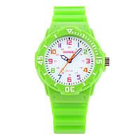 Skmei 1043 зеленые детские часы, фото 1