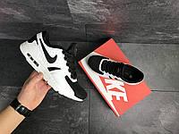 Мужские демисезонные кроссовки Nike 7382 белые с черным
