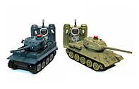 Танковый бой на радиоуправлении 1:32 HuanQi 555 Tiger vs Т-34