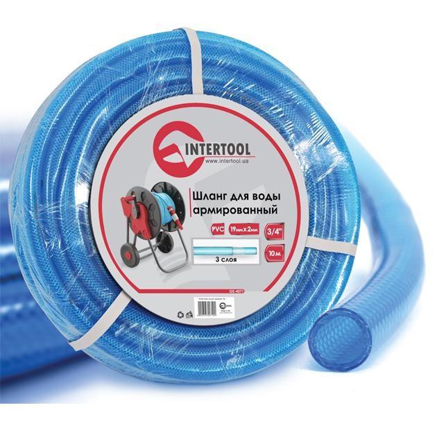 """Шланг для воды 3-х слойный 3/4"""", 10м, армированный, PVC INTERTOOL GE-4071"""