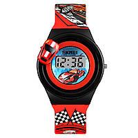 Skmei 1376 красные детские часы с машинкой