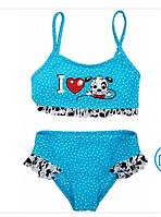 Дитячий купальник з далматинцем (блакитний) р-ри 104