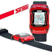 Skmei 0961 красные детские  часы машинка