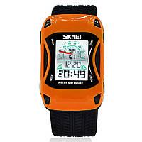 Skmei 0961 оранжевые детские  часы машинка, фото 1