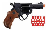 Игрушечный пистолет с пульками EDISON Jeff Watson 19см 6-зарядный(459/21)