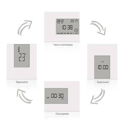 Термометр комнатный цифровой электронный Т-08 белый + батарейки часы термометр с датчиком, фото 2