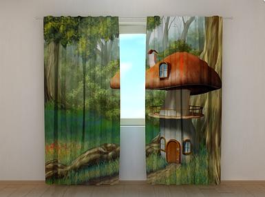 """Фотошторы """"Грибочек"""" 250 х 260 см фото штори с рисунком шторы в детскую"""