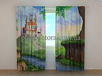 """Фотошторы """"Замок для принцессы"""" 250 х 260 см фото штори с рисунком шторы в детскую"""