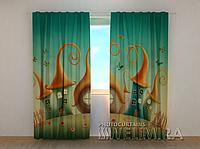 """Фотошторы """"Город волшебников"""" 250 х 260 см фото штори с рисунком шторы в детскую"""