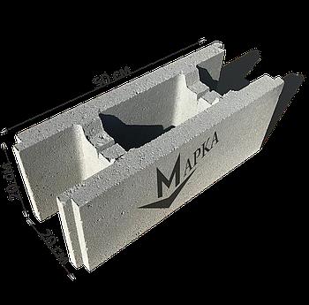 Блок несъемной опалубки 50х20х20 см