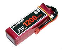 Аккумулятор AGA POWER Li-Pol 1200mAh 22.2V 6S 30C Softcase 26x34x105мм T-Plug