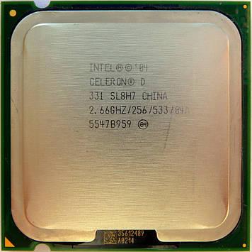 Процессор Intel Celeron D 331 2.66GHz/256/533 (SL8H7) s775, tray