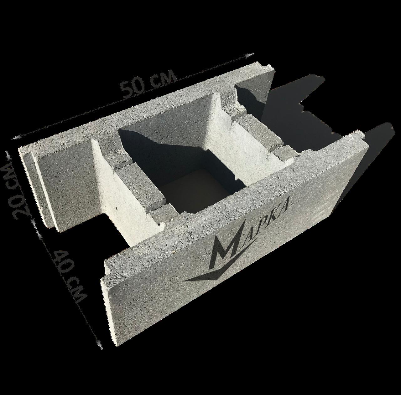 Блок несъемной опалубки 50х20х40 см