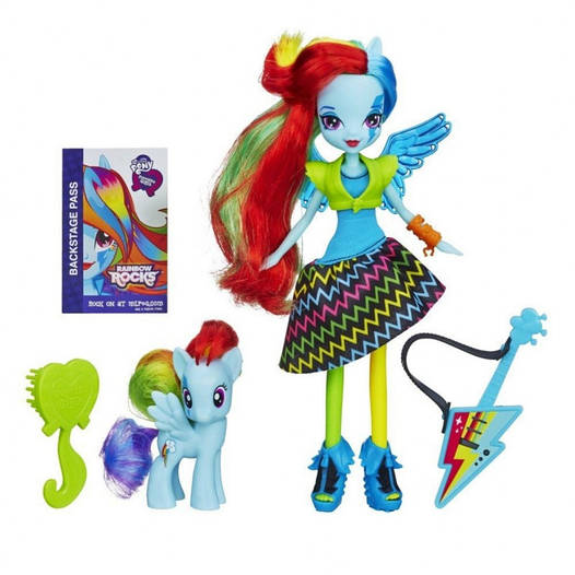 "My Little Pony Equestria Girls Rainbow Dash з поні Rainbow Rocks Neon (Кукла ""Rainbow Rocks"" Девушки Эквестри)"