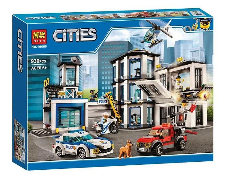 Конструктор Bela 10660 Полицейский участок. Город (аналог Lego City 60141)