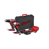 Набор инструментов: дрель-шуруповерт + электро-отвёртка 18 В 2 x 4,0 ah red li-ion powerpack m18bpp2