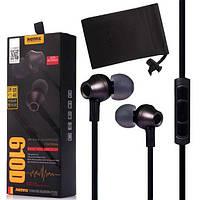 Наушники с микрофоном « Remax RM-610D » с регулировкой громкости