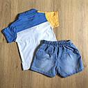 Футболка и джинсовые шорты  2-3-4-5 лет , фото 2