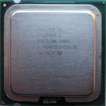 Процессор Intel Celeron D 360 3.46GHz/512/533 (SL9KK) s775, tray