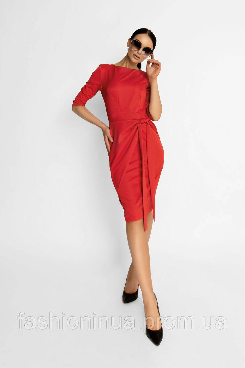 d67694f47f1 Элегантное Классическое Платье Красный р. 42 44 46 48 - FashionUA -  интернет-магазин