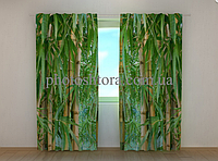 "Фотошторы ""Бамбуковый лес"" 250 х 260 см цветы фото штори шторы с рисунком"