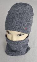 Шапка весенняя с шарфом бафм м 5538 Vivatricko  3-10 лет, разные цвета