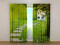 """Фотошторы """"Домик"""" 250 х 260 см фото штори с рисунком шторы в детскую"""