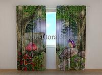"""Фотошторы """"Чудеса в лесу"""" 250 х 260 см фото штори с рисунком шторы в детскую"""