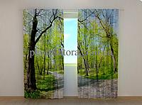 """Фотошторы """"Апрель"""" 250 х 260 см лес природа фото штори шторы с рисунком"""