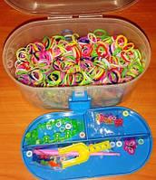 Комплект резинок для браслетов в чемодане со станком 1000шт